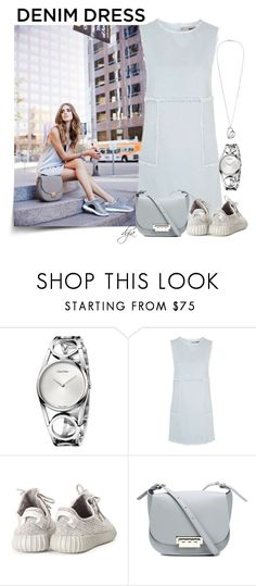 """""""Denim dress"""" by dgia ❤ liked on Polyvore featuring Calvin Klein, Topshop, adidas Originals and ZAC Zac Posen"""