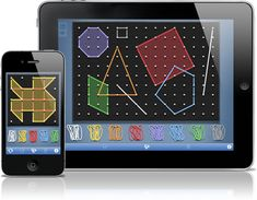 Students will love this free geoboard app! Available for ipad, iphone or the web.