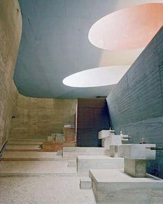 Sainte Marie de La Tourette, a convent near Lyon, France, was designed by Le Corbusier and Iannis Xenakis via kellybehunstudio