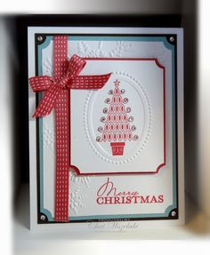 Love this card made withe the Contempo Christmas Stamp Set!!   Baja Breeze, Primrose Petals, Early EspressoMe, My Stamps and I