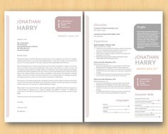 coral cropped round rectangle microsoft word resume by inkpower 1500 - Ms Word Resume Templates