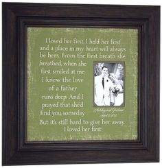 Custom Wedding Gifts Personalized Picture by PhotoFrameOriginals, $75.00