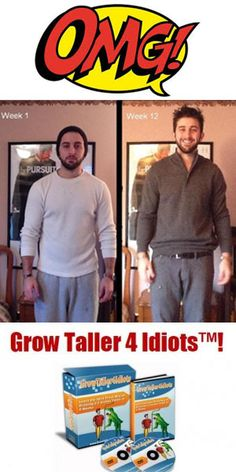 Do you want to let some one to see you that you are taller than others? Check here more review of Grow Taller 4 Idiots #growtaller4idiots