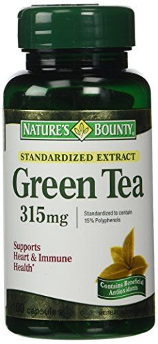 Nature's Bounty Green Tea Extract, 315mg, 100 Capsules (Pack of 2) * Check this awesome product by going to the link at the image.