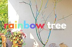 Tree Branch Crafts, Tree Branches, Trees, Crafts To Make, Crafts For Kids, Babble Dabble Do, Rainbow Activities, Yard Party, Nature Crafts