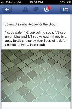 8-18-13...AMAZING. My grout looks brand new again. It was close to black!  Grout cleaning recipe