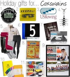 Holiday gifts for the COXSWAIN in your life.