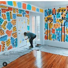 """9,555 Likes, 89 Comments - Dallas Clayton (@dallasclayton) on Instagram: """"It rained in Los Angeles today, so I spent the afternoon inside painting a mural at the offices of…"""""""