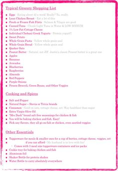 Clean Eating Grocery List | Clean eating grocery list | the kitchen is the place to be... | Pinte ...