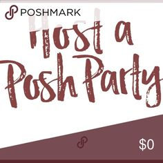 Hosting my first posh party Monday May 8th at 7pm feel free to tag your closet and/or a few close friends for consideration please do not mass tag or you will not be selected thank you Other