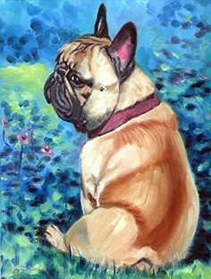 Caroline's Treasures 7313CHF Fawn French Bulldog in Flowers Flag Canvas, Large, Multicolor, Multi