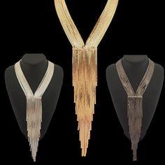 Nuevo diseño de moda de los Rhinestones Collar cadena mujeres joyería del vestido de noche collares largos declaración accesorios #2689 en Collares pendientes de Joyas y Accesorios en AliExpress.com | Alibaba Group
