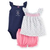 Neon bubble shorts pair up with an anchor print or navy bodysuit for 2 adorable outfits in 1.<br>