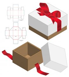 Discover thousands of images about Box packaging die cut template design Premium Vector Diy Gift Box, Diy Box, Diy And Crafts, Paper Crafts, Box Packaging, Box Design, Paper Art, Decorative Boxes, Gift Wrapping