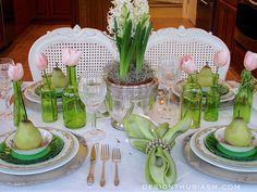 Pretty table setting, Spring
