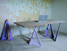 Trestle Legs Table, cavalletti lilla per tavoli temporanei