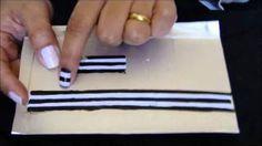 Decoração em unhas interiças, ou Tenshi caseiro., via YouTube.