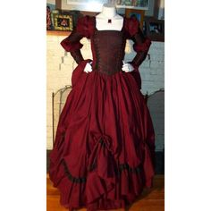 Pirate Dress Renaissance Outfit Waist Cincher Historical Costume Wench ❤ liked on Polyvore featuring costumes, red pirate costume, red costume, red halloween costumes, renaissance pirate costume and renaissance costumes