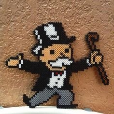 Mr. Monopoly perler beads by d.learyous