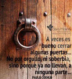 CERRAR PUERTAS... (((Sesiones y Cursos Online www.ciaramolina.com #psicologia #emociones #salud)))