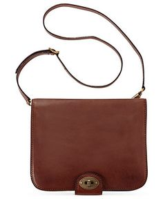 "Fossil Handbag, Vintage Revival Flap Portfolio Bag - Crossbody & Messenger Bags - Handbags & Accessories - Macy's $159, 1 1/2"" deep"