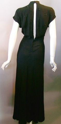 1930s evening gown                                                                                                                                                                                 More