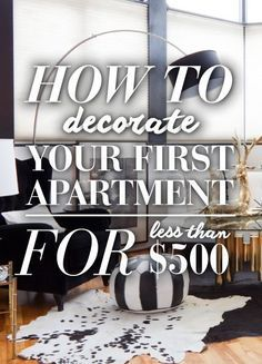 How To Decorate Your First Post-Grad Studio Apartment For $500 Or Less