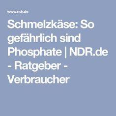 Schmelzkäse: So gefährlich sind Phosphate | NDR.de - Ratgeber - Verbraucher