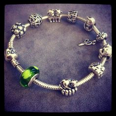 Cute PANDORA bracelet. #PANDORAbracelet #Silver #Murano