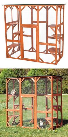 Carriers and Crates 116362: Trixie Pet Products Wooden Outdoor Cat Sanctuary, Brown -> BUY IT NOW ONLY: $405.99 on eBay!