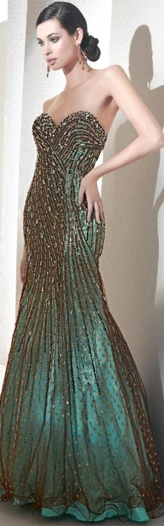 My bridesmaid of honor's dress (aka my sister) I would like her to wear it at my peacock themed wedding