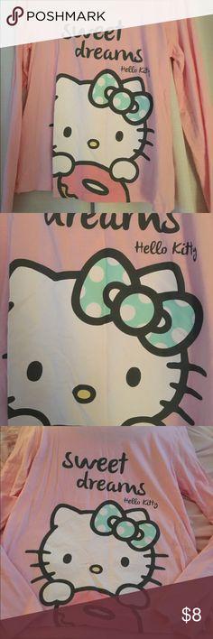 🍭Hello Kitty pajama top never worn xl 🍭Hello Kitty pajama top xl never worn super cute ! Long sleeve 100% cotton Intimates & Sleepwear Pajamas