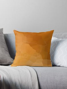 'Year of the Pig 2019 - Gold Pig' Throw Pillow by ellenhenry Throw Pillows Bed, Bed Throws, Floor Pillows, Decorative Throw Pillows, Cute Easy Drawings, Frozen Cherries, Year Of The Pig, Block Wall, Crete
