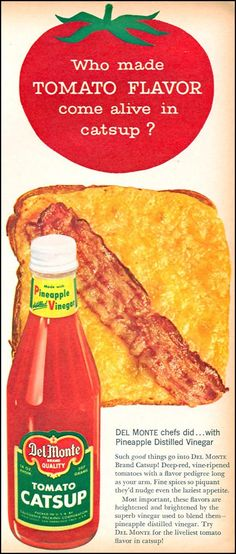 Bacon and Cheese on Toast- DEL MONTE TOMATO CATSUP FAMILY CIRCLE 02/01/1958 p. 13