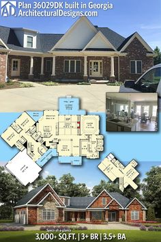 Architectural Designs House Plan 36029DK client-built in Georgia | 3BR | 3.5BA | 3,000+ SQ FT | PLUS bonus over the garage | Ready when you are. Where do YOU want to build? #36029DK #adhouseplans #architecturaldesigns #houseplan #architecture #newhome #newconstruction #newhouse #homedesign #dreamhome #dreamhouse #homeplan #architecture #architect #craftsmanhouse #craftsmanplan #craftsmanhome