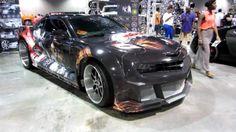 video - WideBody Camaro on Savini Wheels & Tekken Tag Custom Wrap vinyl brushed super deep lips bs2