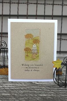 Autumn Hills Revisited: Bountiful Blessings Card by Heather Nichols for Papertrey Ink (October 2014)