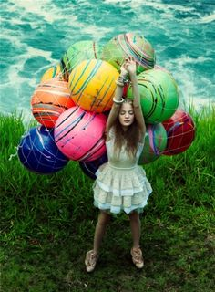 beaches, balls, birthday parties, color, bouquets