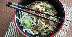 Pad thaï végétalien sans gluten