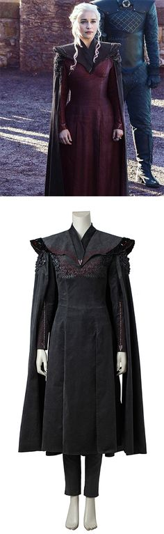 Game of Thrones Season 7 Daenerys Targaryen Costume Cosplay Women's Hallloween Party Costume