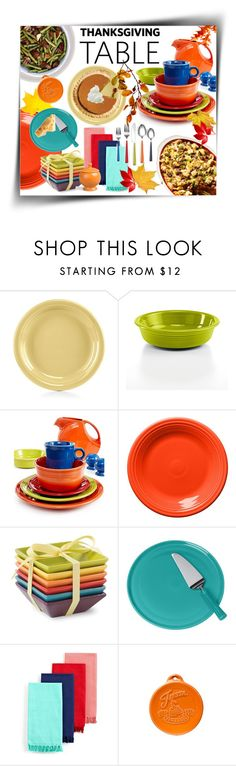 """""""Thanksgiving Table With Fiestaware"""" by mk-style ❤ liked on Polyvore featuring interior, interiors, interior design, home, home decor, interior decorating, Fiesta and Fitz and Floyd"""