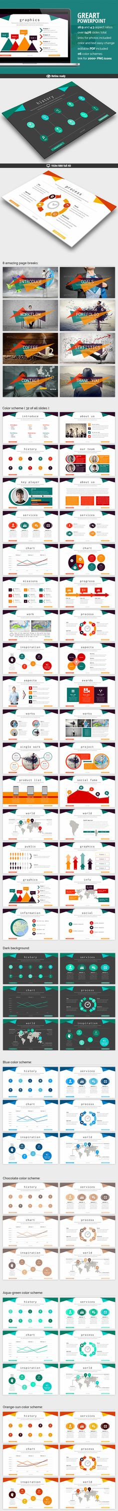 Greart - Powerpoint Presentation PowerPoint Template / Theme / Presentation / Slides / Background / Power Point #powerpoint #template #theme