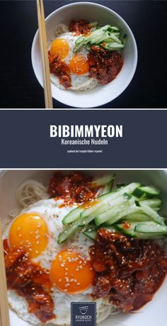 Bibim Myeon Scharfe und Kalte Nudeln Korean Bibim Myeon Recipe - Korean Recipe - Spicy and Cold Nood Noodle Recipes, Spicy Recipes, Asian Recipes, Healthy Recipes, Ethnic Recipes, Cold Noodles, Cold Pasta, Spaghetti Recipes, Turkish Recipes