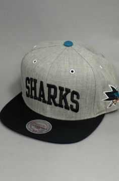 San Jose Sharks Snapback Hat (Gray/Black) by 123SNAPBACKS $35