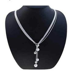 Necklace Lureme? women's Matte Little Ball 925 Sterling Silver Plated Necklace lureme Jewelry Necklaces