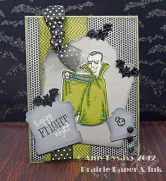 Card #3 from my 2012 Halloween Card Series by AmyR of Prairie Paper & Ink