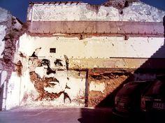 subtractive wall art - way better than graffiti!