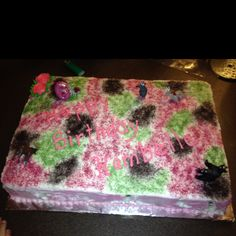 Girls camo birthday cake