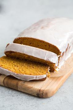 Combine the flavors of Thanksgiving and Christmas with this eggnog glazed pumpkin bread! This moist and delicious pumpkin bread will soon become a family