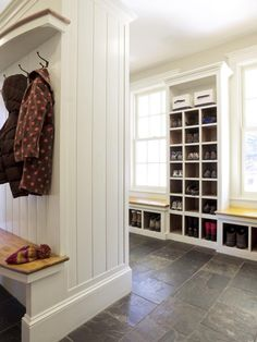 shoeboxes in mudroom or around windows in sunroom creating window seats!